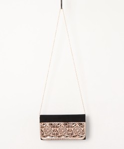 Pattern Metal Flap Clutch Bag