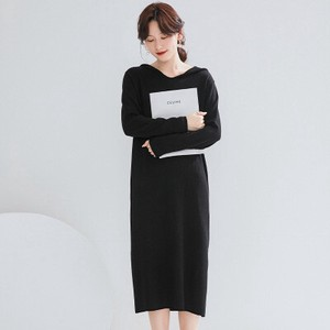 Long Sleeve Knitted Dress Ladies A3