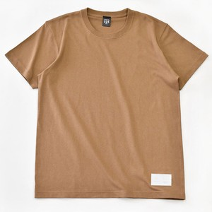 Standard T-shirt Plain Casual Leather Men's Ladies Camel