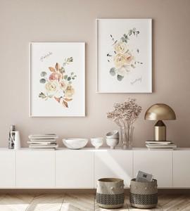 デザインポスター【クラシックローズ】福袋【2種セット】 北欧 客室 民泊 サロン カフェ レストラン