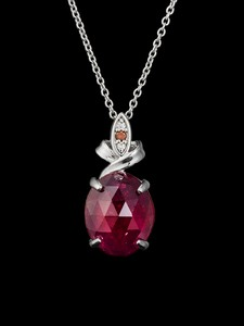 Ruby Rose Cut Pendant