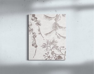Canvas Panel 8mm Botanical Modern Botanical Plant Flower Scandinavia Vintage