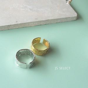 【 SV925 RING 】ハンマー デザインリング ゴールド/シルバー