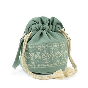 Pouch Linen Embroidery Shoulder Bag Ladies Bag