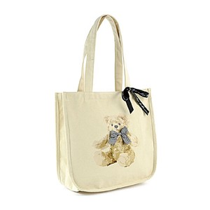 bear Print Ribbon Girly Tote Bag Ladies Bag
