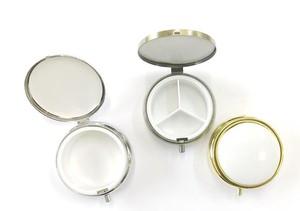 ポーセラーツ教室商材!景徳鎮市製磁 ピルケース(仕切りあり/仕切りなし)+DIY白磁セット