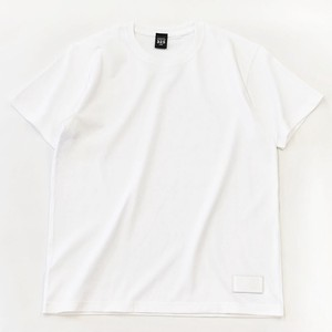 Standard White T-shirt Plain Casual Leather Men's Ladies White