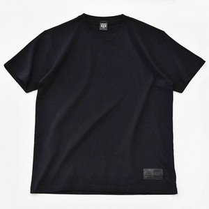 Standard Black T-shirt Plain Casual Leather Men's Ladies Black