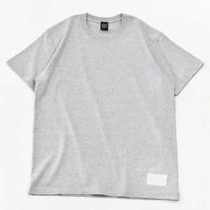Standard Gray T-shirt Plain Casual Leather Men's Ladies Gray