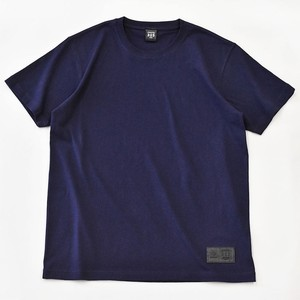 Standard T-shirt Plain Casual Leather Men's Ladies Navy