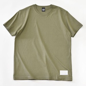 Standard T-shirt Plain Casual Leather Men's Ladies Green