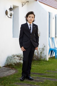 Graduate Boys Herringbone Button Suits