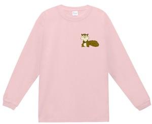 男女兼用「おとぼけアニマル(リス)」厚手長袖Tシャツ