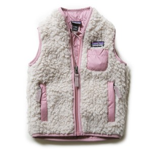 patagonia フリース BABY RETRO-X VEST 61035 キッズ ベビー NATURAL W/ARTIFACT PINK NAAP パタゴニア