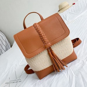 Straw Bag Backpack Ladies Backpack