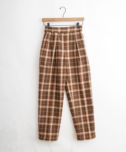 Cotton Flannel Melange Checkered Chef Pants