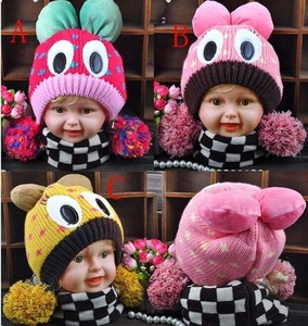 Kids Knitted Hat Kids Hats & Cap Girl Hats & Cap Character Colorful Knitted