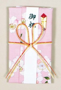 Japanese Noshi decorated envelopes Bow Sakura