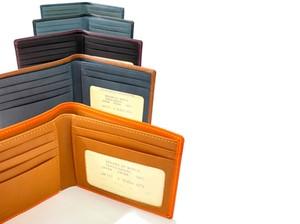 <イタリアンレザー ブッテーロ使用>純札 二つ折財布 日本製
