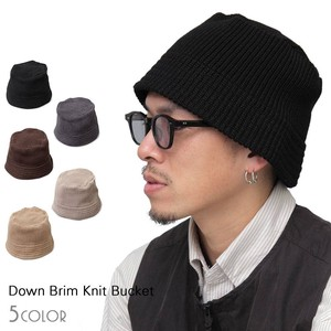 Star Cover Antibacterial Deodorization Down Brim Knitted BUCKET HAT