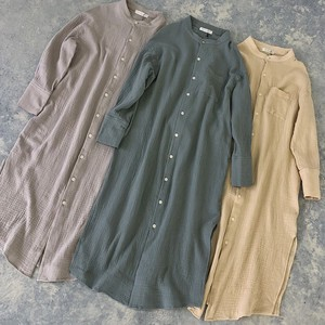 Spring Items Double Gauze Long Shirt