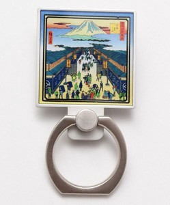 Design Ukiyoe(A Woodblock Print) Square Smartphone Ring