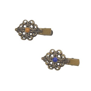 Color Antique Gold Natural stone Accent Hair Clip