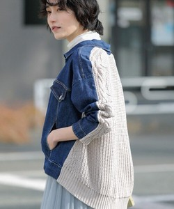 Special Ply Knitted Combi Denim Jacket 20