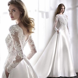 Bride Long Sleeve Di Dress