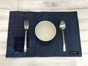 Hand Maid Water-Repellent Processing Patchwork Denim Place Mat
