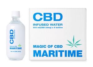 MARITIME マリタイム CBDウォーター/ミネラルウォーター 500ml 24mg 清涼飲料水