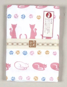 Double Gauze Hand Towel Fortune Beckoning cat