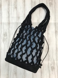 Artisans Hand Knitting Loop Bag Big Felt Black