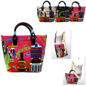 Patchwork Synthetic Leather 2-Way Fairy tale Mexico Bag 20