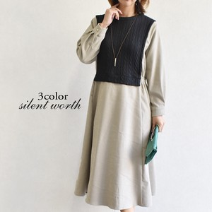 A/W Cable Switching Docking One-piece Dress