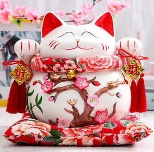 Lucky Cat Ceramic Decoration HOLIDAY Gift