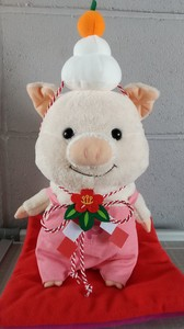 Soft Toys/Dolls Costume New Year Accessory Round Rice Cake