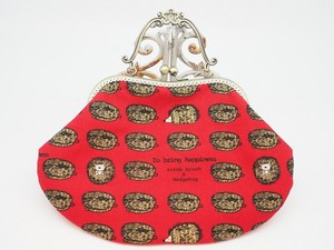 Feeling Coin Purse Bag Base Hedgehog Scrub