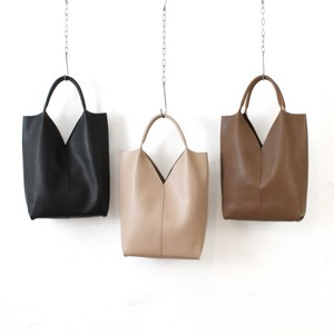 Synthetic Leather Triangle Cut Tote