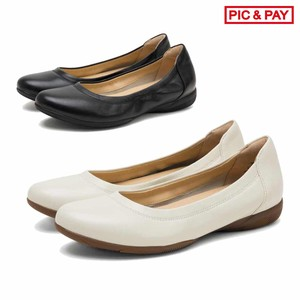 All Year Soft Sheep Leather Flat Round Pumps