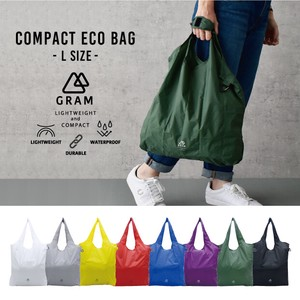 [2021 New Product] Light-Weight Compact Eco Bag Size L Karabiner Attached Water-Repellent