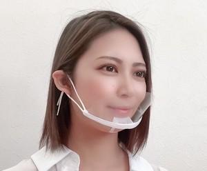 マスク 透明マウスシールド 10枚入り 繰り返し使用可能 日本国内在庫品 2020年