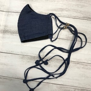 Long Fringe Mask Denim Cotton