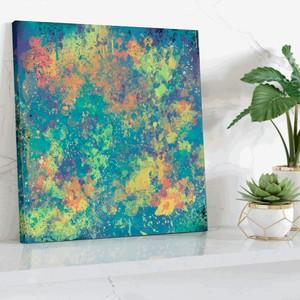 【英国製・高品質】永久保証付き ACROSS THE FOREST キャンバスプリントアート 40×40cm