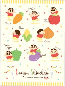 """Crayon Shin-chan"" Plastic Folder Vegetable"