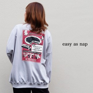 【easy as nap】【2020冬新作】Chocolate Pieプリント BIGトレーナー