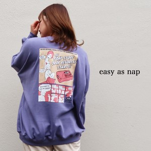 【easy as nap】【2020冬新作】BUBBLE SOAPプリント BIGトレーナー