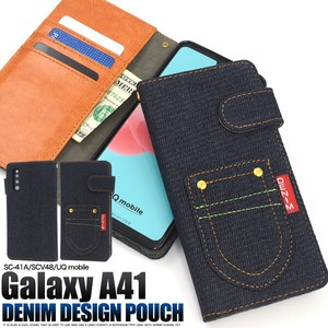 Smartphone Case A4 SC CV Pocket Denim Design Notebook Type Case