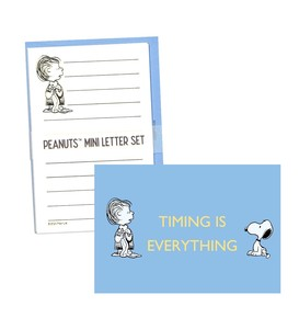 SNOOPY Peanuts Mini letter Set Envelope 3 Pcs Letter Paper 6 Pcs Snoopy