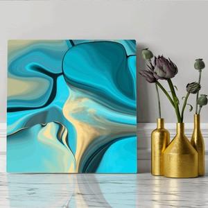 【英国製・高品質】永久保証付き BLUE CLIFF キャンバスプリントアート 30×30cm